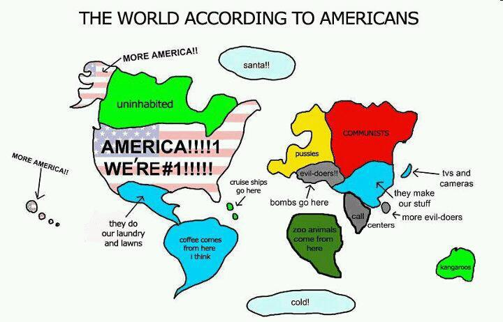 The definitive map of the world according to Americans?