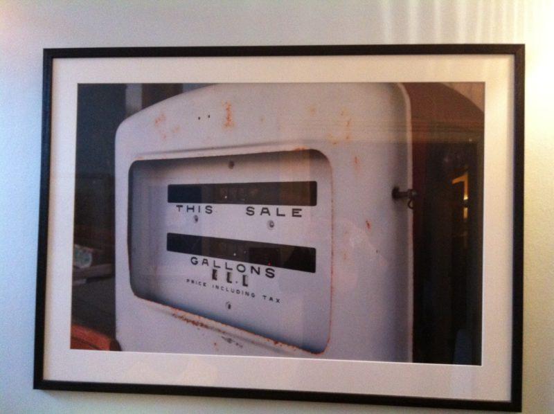 gas pump in Hico, Texas