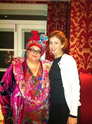 Jennifer Howze with Camila Batmanghelidjh