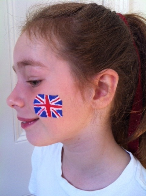 How to do Union Jack face paint