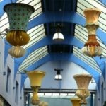Light fixtures in the arcade