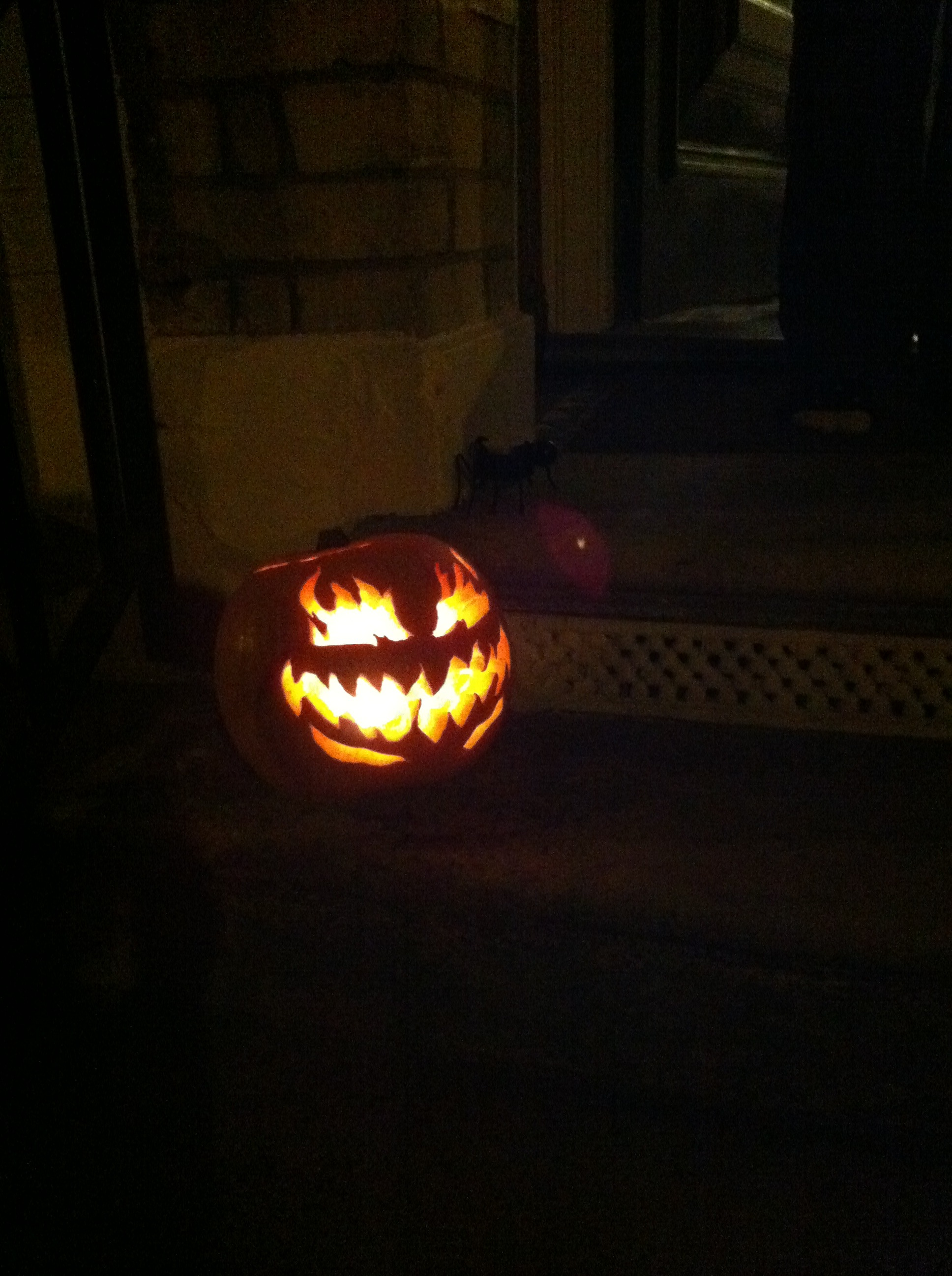 Pumpkin carved for Halloween