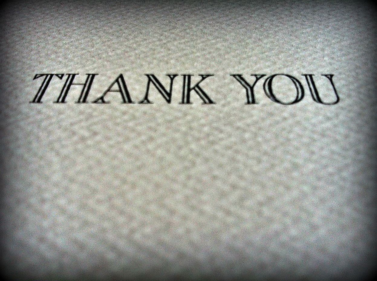 The problem with thank you cards
