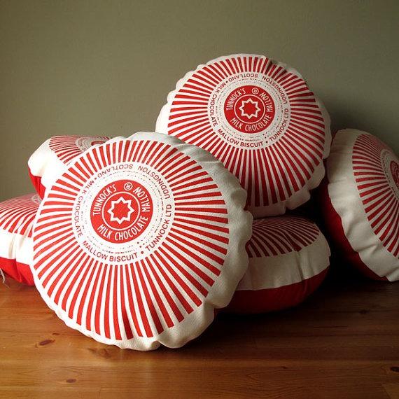 tunnocks tea cakes cushion