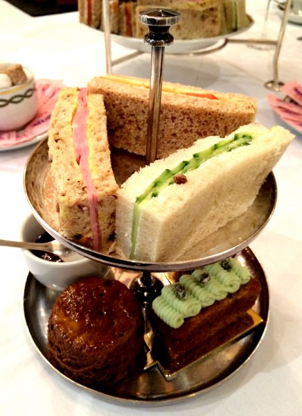 afternoon tea sandwiches, Milestone Hotel