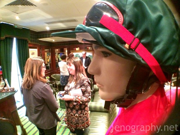 A jockey at the Stables Bar, Milestone Hotel