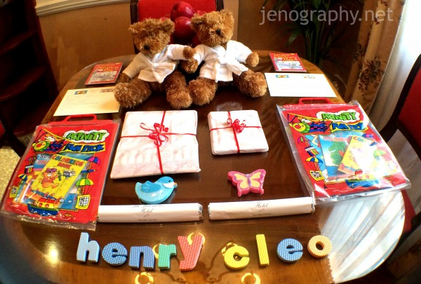 kids goody bag Milestone Hotel
