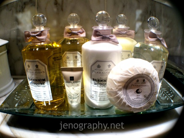 Penhaligon toiletries, Milestone Hotel