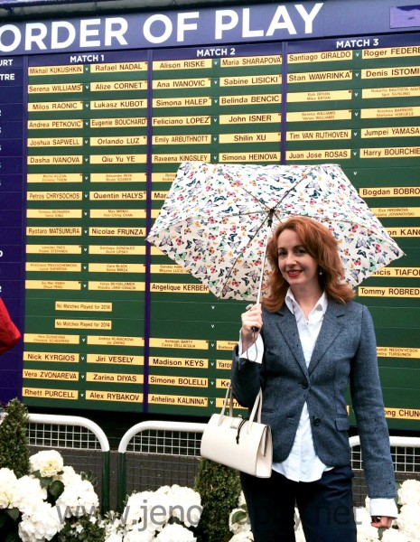 Jennifer Howze at Wimbledon