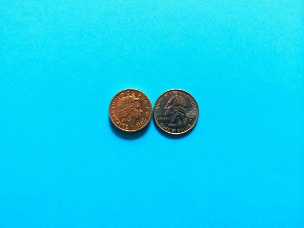 pound and quarter