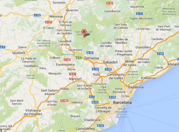 Sant Llorenc del Munt Obac Natural Park is about 45 minutes from Barcelona city