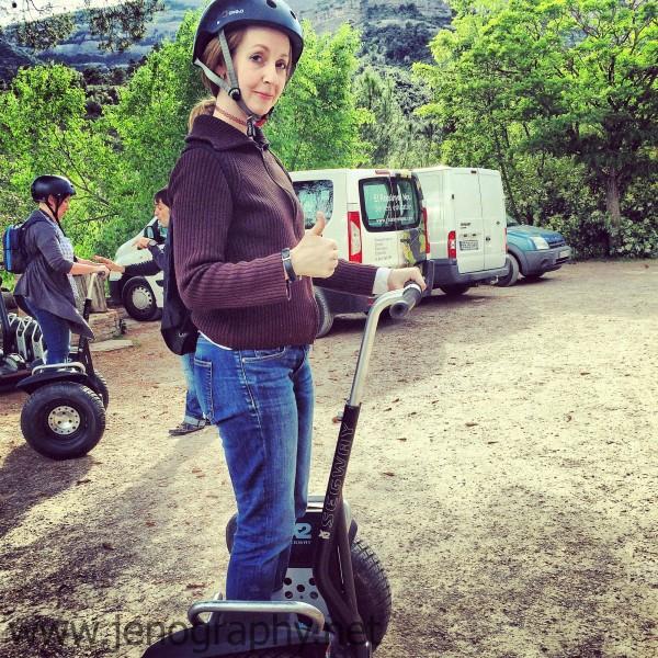 Jenography rides a Segway