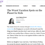 Jenography on Yahoo: The worst places to take children