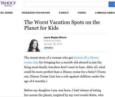 Worst vacation spots for kids: Jenography on Yahoo Travel