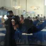 Indoor sky diving at Windoor, Empuriabrava, Costa Brava