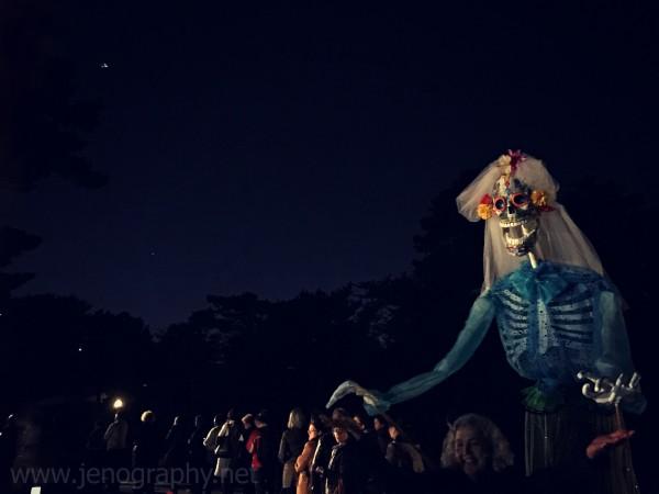 A puppet by Lucrecia Novoa at the Frida Al Fresco evening, Bronx Botanical Gardens