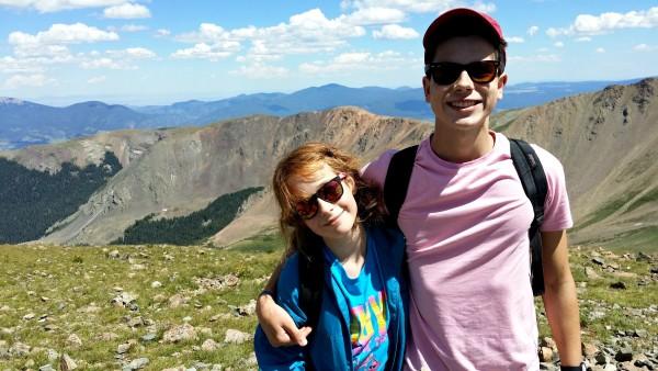 Kids on Wheeler Peak, Taos - Jenography