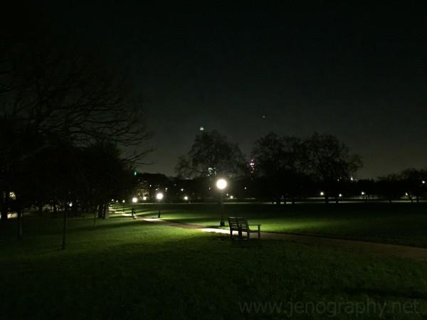 Primrose Hill at night on Jenography.net