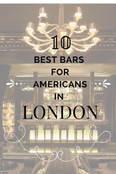 10 best bars for Americans in London
