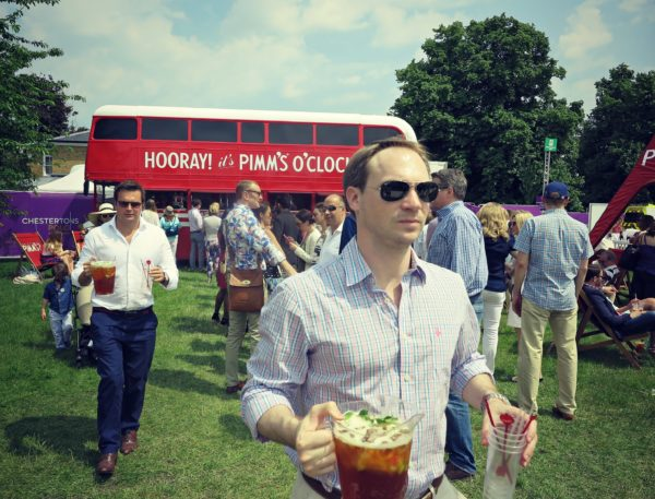 At the Pimms bus at Polo in the Park on jenography.net