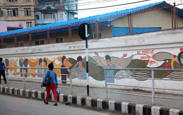 graffiti in Kathmandu