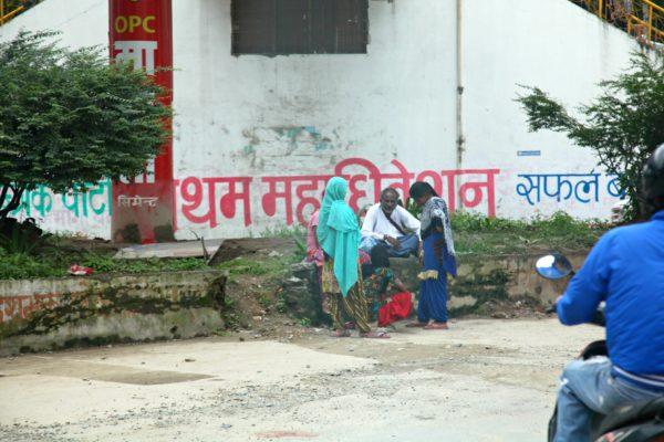 Nepali writing in Kathmandu