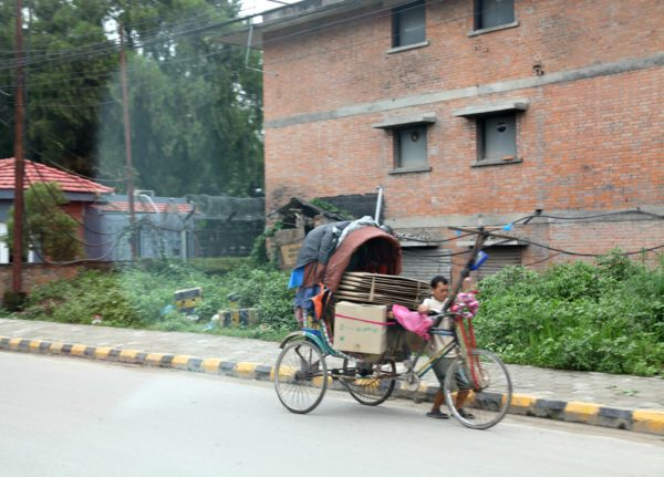 rickshaw in Kathmandu