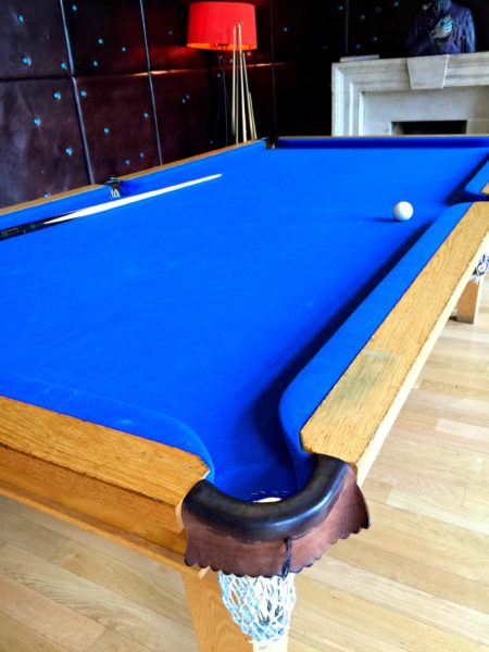 Billard table at Cowley Manor Hotel