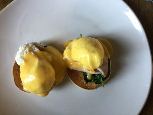 Eggs Benedict at Peat Spade Inn