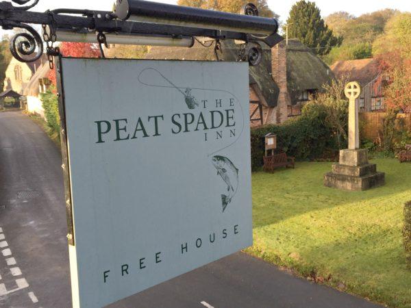 Peat Spade Inn sign