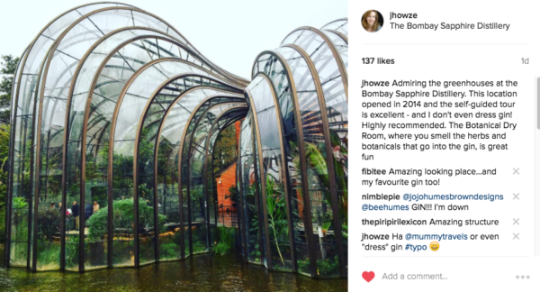 greenhouse at Bombay Sapphire Distillery