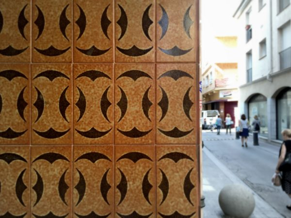 Wall tiles in Calella, Costa Barcelona