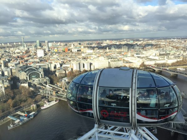 London Eye view from the top