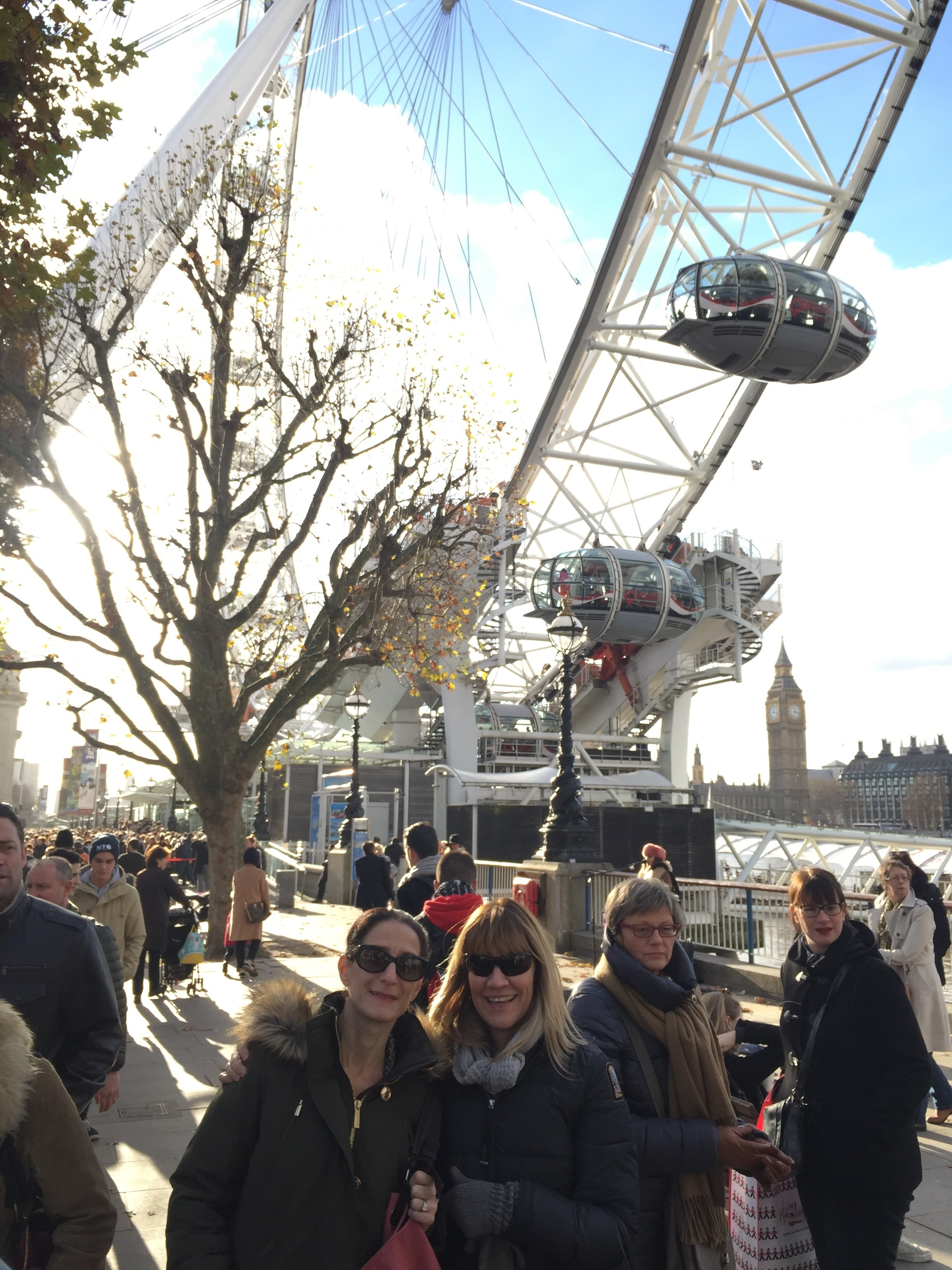 On South Bank in front of the London Eye