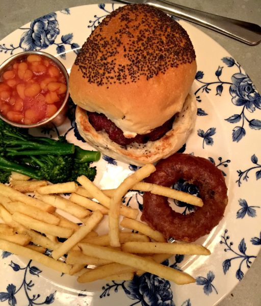 child's burger at The Swan Hotel