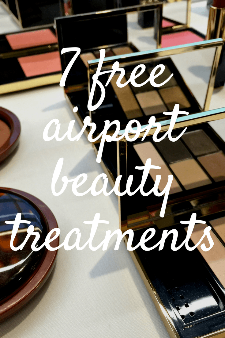 free airport beauty treatments pin