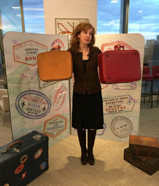 Jenography with suitcases