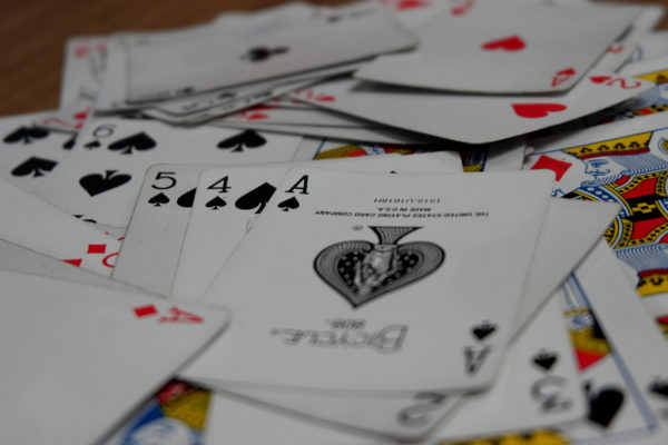 closeup of cards with X-A3