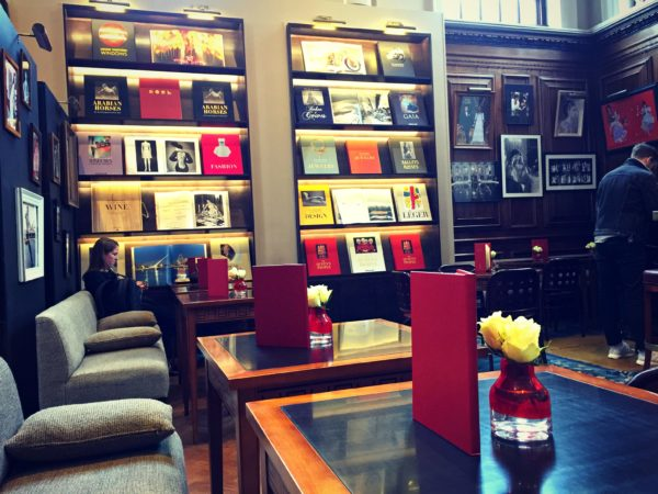 a view of Swans Bar at Maison Assouline