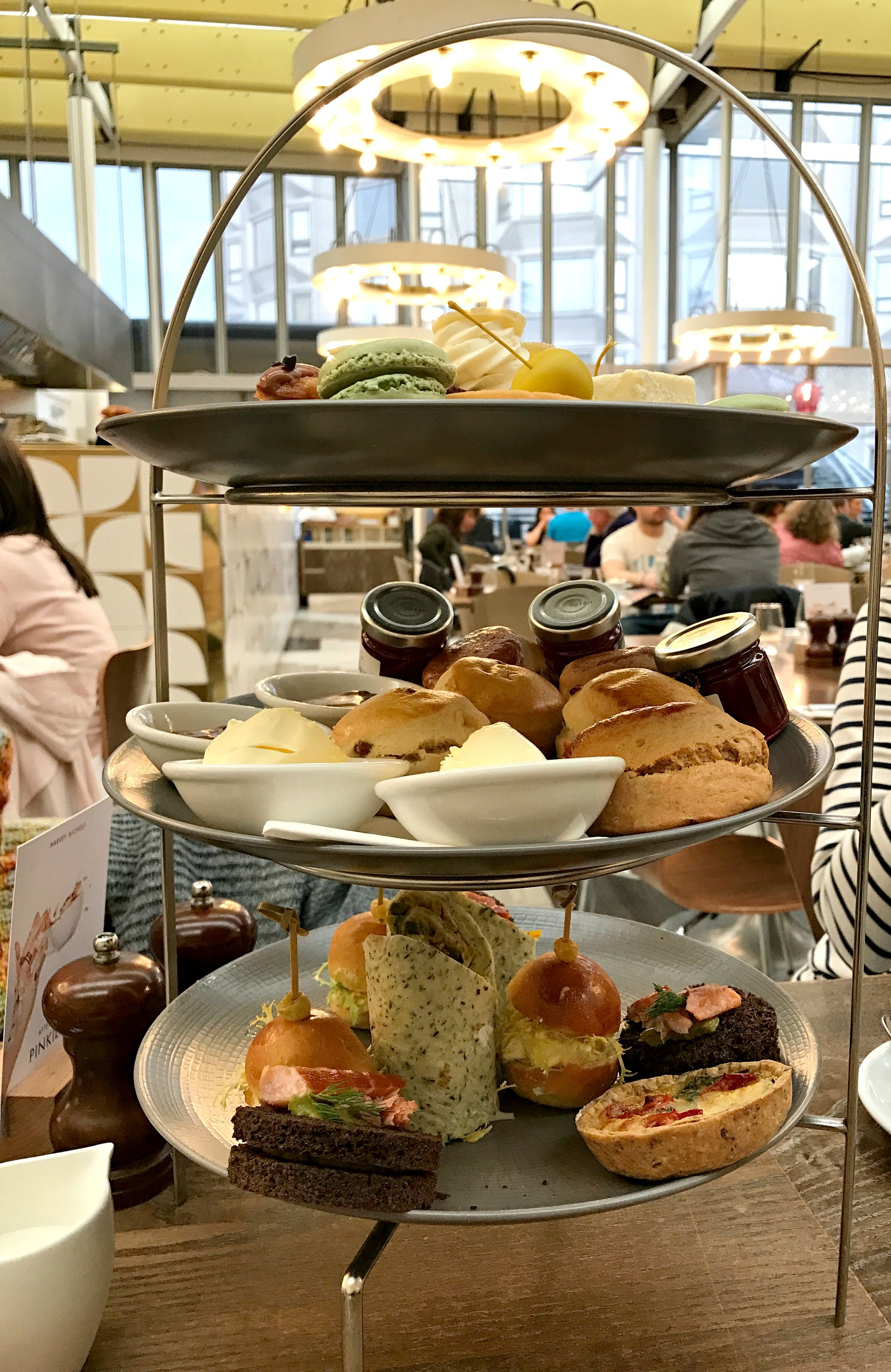 afternoon tea at Harvey Nichols London