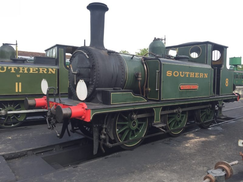 A tank engine at Isle of Wight Steam Railway