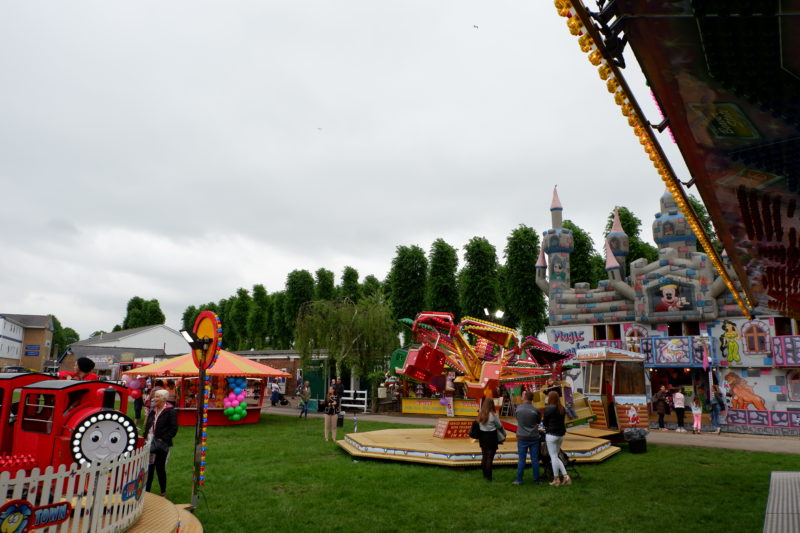funfair at Windsor racecourse