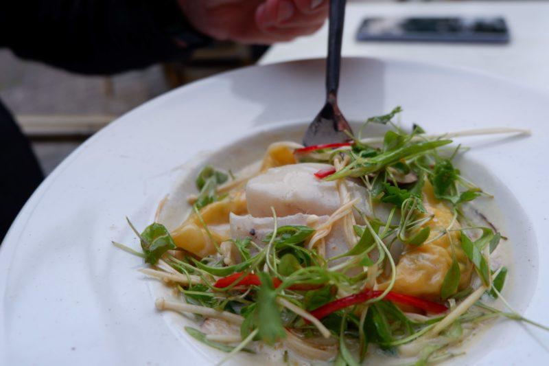seafood ravioli at Bistro Vadouvan