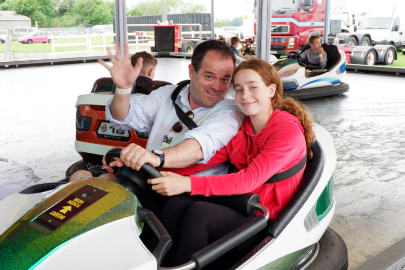 dodgems at Windsor Racecourse