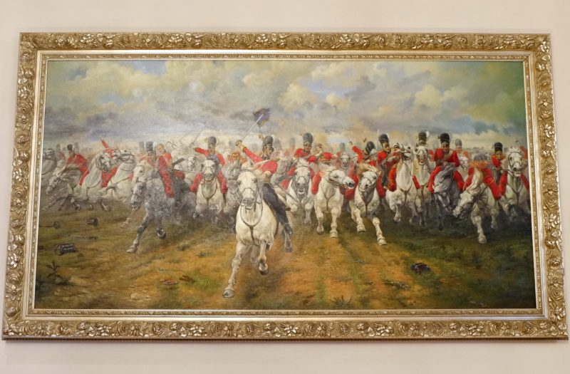 Cavalry charge painting Royal Horseguards Hotel