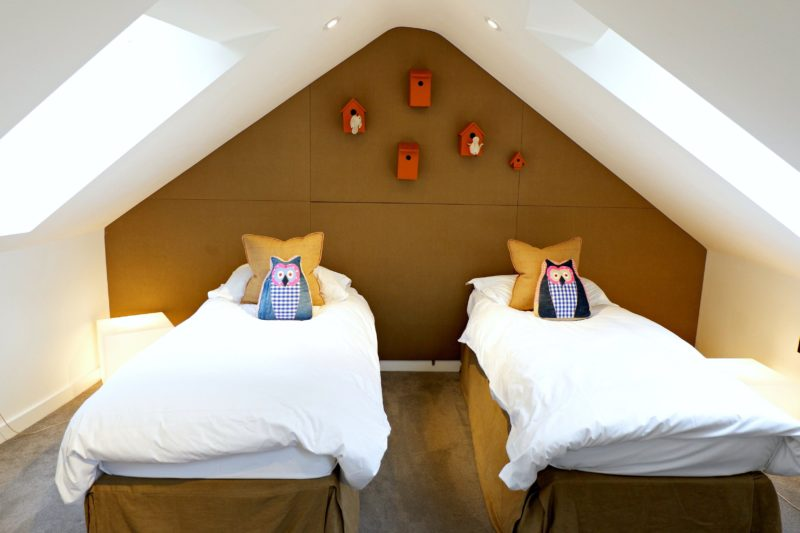 kids sleeping loft at Chewton Glen treehouse