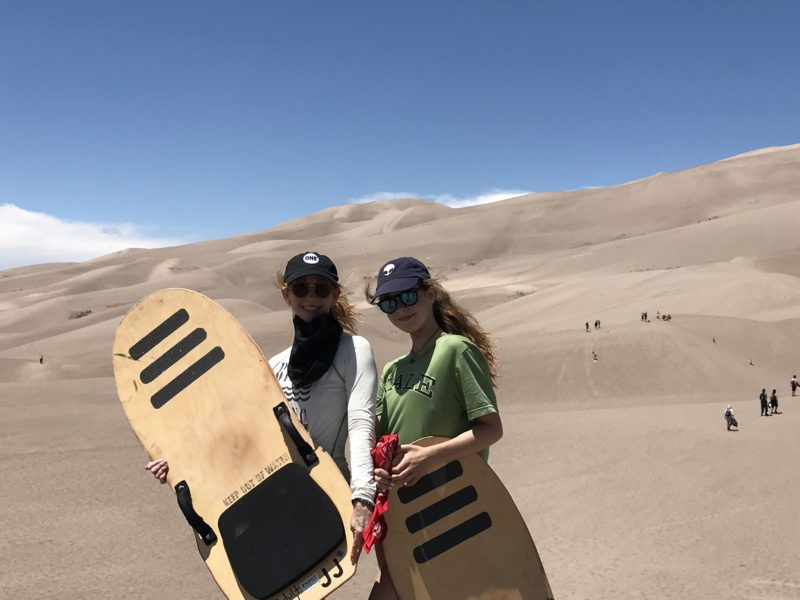 Jenography & daughter on sand dunes
