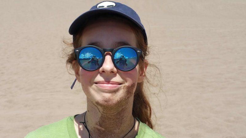 a beard of sand
