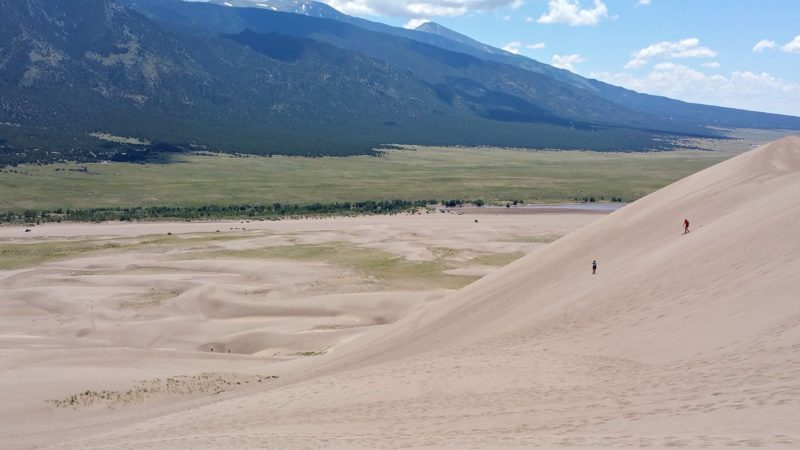 sand dunes from the top
