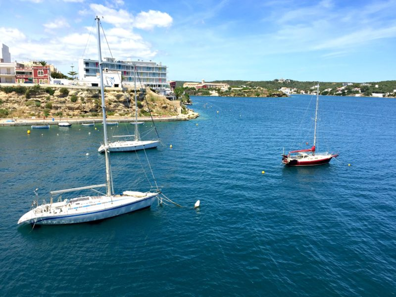 sailboats in Menorca